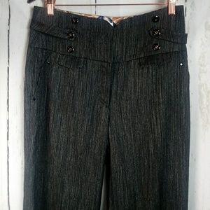 Anthropologie 10 Metallic Dress Pants Wide Leg
